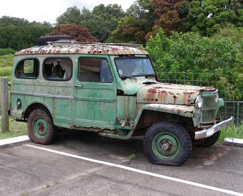 rust damaged vehicle